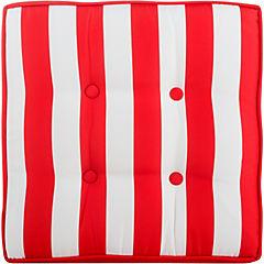 Cojín para piso 50x50 cm rojo y blanco