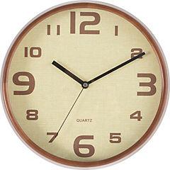 Reloj mural 30 cm café