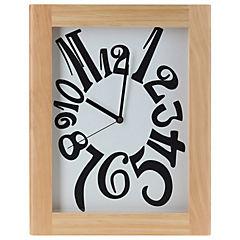 Reloj mural 32x40 cm café