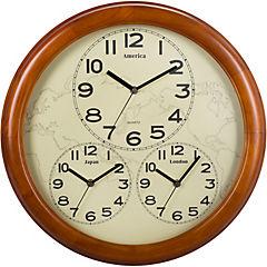 Reloj mural 45 cm café