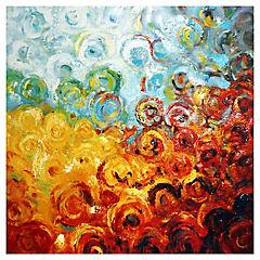 Oleo Círculos abstractos 60x60 cm