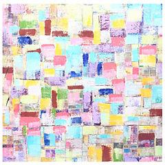 Oleo Cubos azules 60x60 cm
