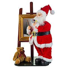 Santa dorado con regalos