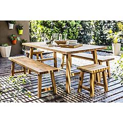 Juego comedor Ravello 5 piezas madera acacia