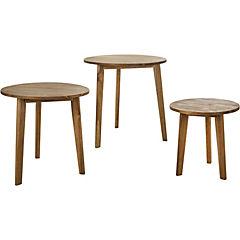 Juego 3 mesas Balcony madera acacia
