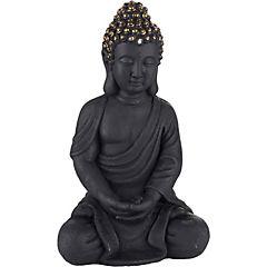 Buda decorativo 41x19,5x23,5 cm cerámica negro