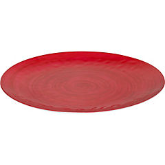 Plato grande melamina rojo 44 cm