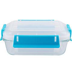 Conservador de vidrio 0,8 l rectangular clip color