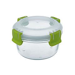 Conservador de vidrio 0,42 l redondo clip color