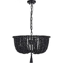 Lámpara colgante 70 cm Negro
