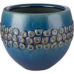 Macetero de cerámica 23x19 cm azul