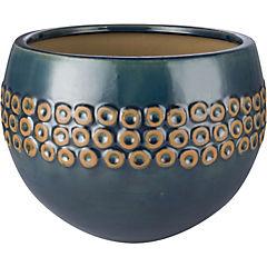 Macetero de cerámica 30x23 cm azul