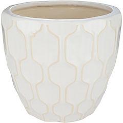 Macetero de cerámica 29x26 cm blanco