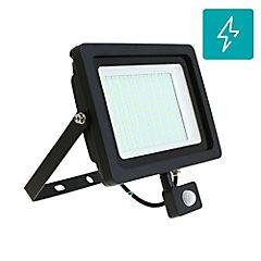 Reflector LED plano 100 W con sensor