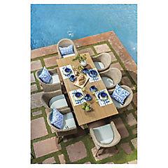 Juego comedor terraza 9 piezas Rodas eucalyptus/ratan Pe