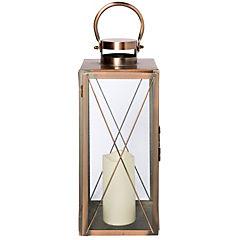 Farol cobre vela led 40,8 cm