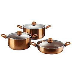 Batería de cocina 6 piezas cerámica cobre