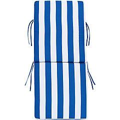 Repuesto cojín para silla poliéster azul