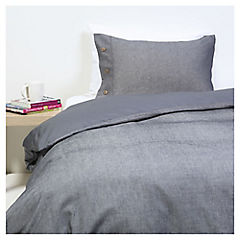 Funda Duvet Oxford azul 1,5 plazas