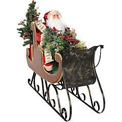 Santa en trineo con regalos 60 cm