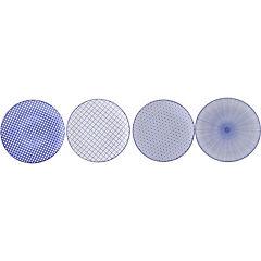 Plato de cerámica azul 21 cm