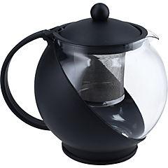 Tetera de vidrio negra 1.250 ml