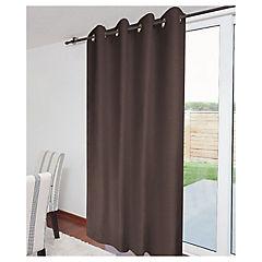 Cortina black out raulí chocolate 140x220