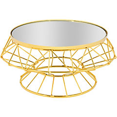 Base decorado metal-vidrio 24x11 cm