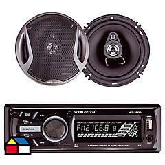 Radio de auto con 2 parlantes