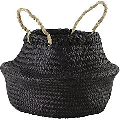 Portamaceta de seagrass 30x33x30 cm Negro