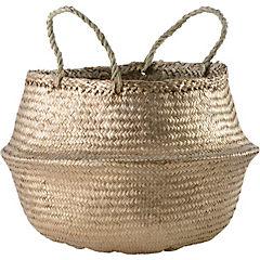 Portamaceta de seagrass 30x33x30 cm Dorado