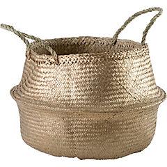 Portamaceta de seagrass 41x38x41 cm Dorado