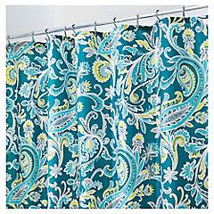 Cortina de baño Paisley poliéster 183x183 cm