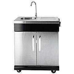 Módulo lavaplatos para parrilla a gas acero inoxidable