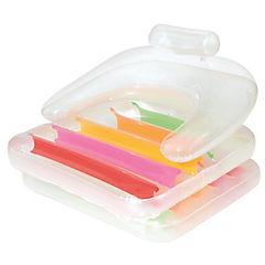 Flotador inflable plástico transparente