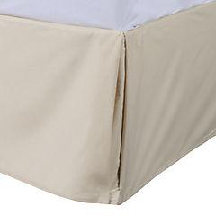 Faldón para cama 180 hilos 2 plazas beige