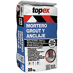 Topex grout anclaje nivel 25 kg