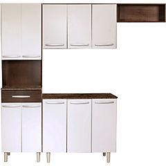 Kit mueble cocina 201x196x38 cm Café