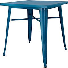 Mesa metal azul