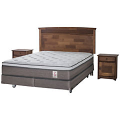 Box Spring King Base Dividida + Muebles Veneto