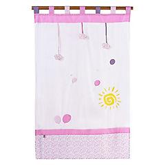 Cortina infantil Globos 105x180 cm rosado