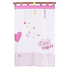 Cortina infantil Corazón 105x180 cm rosado