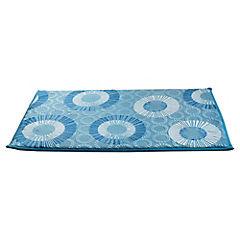 Piso para baño microfibra 40x60 cm Azul