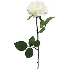 Rosa artificial 58 cm Crema