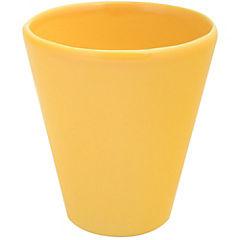 Macetero de cerámica 11x12 cm amarillo