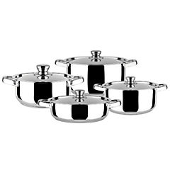 Batería de cocina acero 8 piezas Malaga