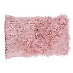 Cojín Peludo rosado 60x33 cm