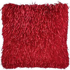 Cojín Shaggy rojo 43x43 cm