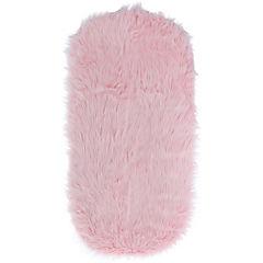 Piecera Peluda rosado 60x120 cm