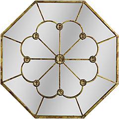 Espejo octagonal metálico 62 cm